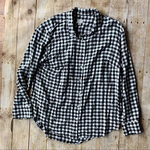 3for$20 A new day black white plaid button down